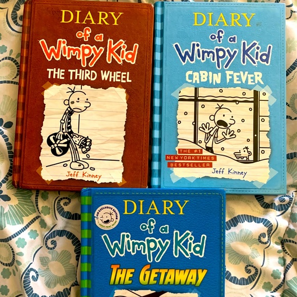 Set of 3 Diary of a Wimpy Kid books